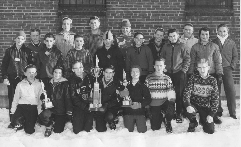 Chisholm Jr. Ski Team in the 1960's