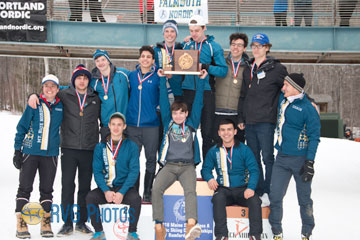 mt blue 2018 class A boys nordic champions